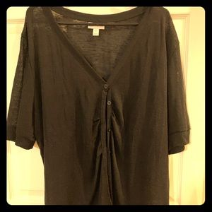 Black size 3XL button down sweater